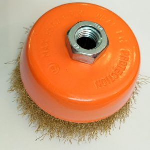 Кордщетка чашеобразная латунная д. 125 мм
