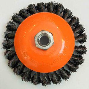 Кордщетка коническая витая д.115 мм
